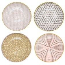 "Susie Ceramic 4 Piece 9.8"" Dinner Plate Set"