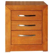 Mandir 3 Drawer Nightstand by REZ Furniture
