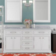 Colchester 60 Double Sink Bathroom Vanity Set - White by Darby Home Co