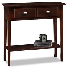 Robert Chocolate Oak Console Table  by Three Posts
