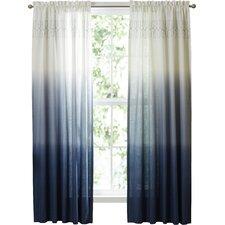 Arashi Solid Semi-Sheer Rod Pocket Single Curtain Panel