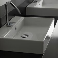 "Ceramica II Unlimited Ceramic 18.3"" Wall mount Bathroom Sink with Overflow"