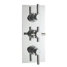 Tec Triple Concealed Shower Valve with Diverter