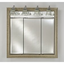 Signature 47 x 40 Recessed Medicine Cabinet with Lighting by Afina