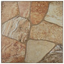 "Marseille 17.75"" X 17.75"" Ceramic Floor and Wall Tile in Beige"
