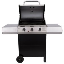 Thermos 3-Burner Propane Gas Grill with Side Shelves