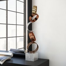 Distressed Metal Ring Sculpture