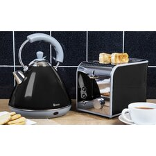 Retro 2L Pyramid Kettle and 2 Slice Toaster Set
