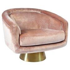 Bacharach Swivel Barrel Chair by Jonathan Adler