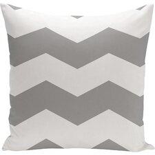 Shrewsbury Chevron Stripes Geometric Outdoor Throw Pillow