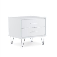 Deoss 2 Drawer Nightstand