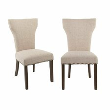 Luxurious Fabric Side Chair (Set of 2)