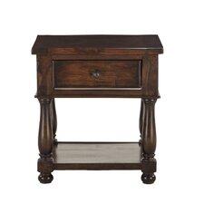 Carmela Reclaimed Neem Wood Storage Side Table 23 by World Interiors