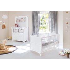 2-tlg. Babyzimmer-Set Florentina mit Regalaufsatz