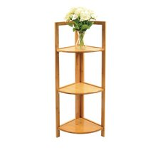 Home 3 Tier Bamboo 38 Corner Unit Bookcase by Timber Valley