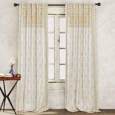 Batik Border Paisley Semi-Sheer Rod pocket Curtain Panel (Set of 2)
