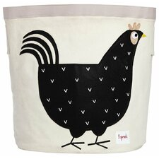 Hen Cotton Canvas Storage Bin