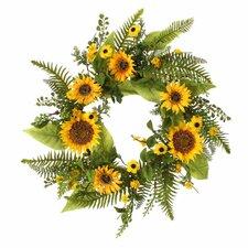 "22"" Mixed Sunflower Wreath"