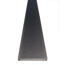4-tlg. 14 cm x 220 cm Terrassendiele aus Bambus und Kunststoff