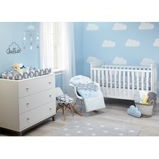 Happy Little Clouds Infant 5 Piece Crib Bedding Set
