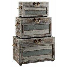 Rushmore 3 Piece Weathered Wood Trunk Set