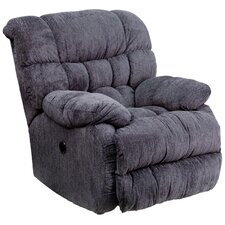 Augustus Contemporary Microfiber Power Recliner with Push Button