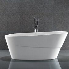 "67"" x 31"" Acrylic Freestanding Soaking Bathtub"