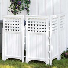 Adjustable Outdoor Resin Four Panel Screen