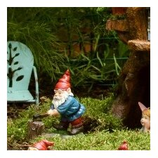 Chopping Gnome Pick Statue (Set of 2)