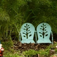 2 Seater Metal Chair Fairy Accessory (Set of 2)