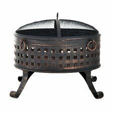 Outsunny Steel Wood Fire Pit