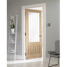 Oregon 1 Panel White Oak Veneer Glazed Internal Door