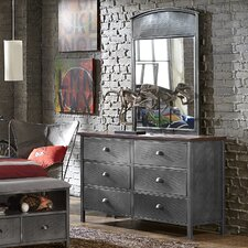 Florence 6 Drawer Double Dresser with Mirror by Viv + Rae