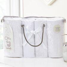 Moses Basket Bale Gift 4 Piece Cot Bedding Set