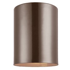 Cylinders 1-Light Outdoor Flush Mount