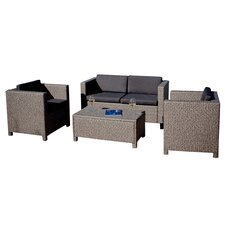McIntosh 4 Piece Deep Seating Group with Cushions by Bay Isle Home