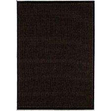Ariadne Saddle Stitch Hand-Woven Black Cocoa Indoor/Outdoor Area Rug