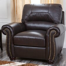 Allen Italian Leather Club Chair by Darby Home Co