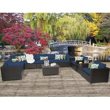 Belle 11 Piece Sectional Seating Group with Cushion