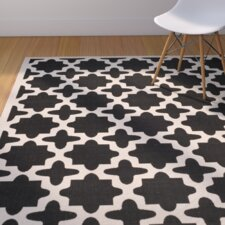 Plano Black/Beige Outdoor Area Rug I