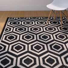 Miami Black/Beige Outdoor Rug