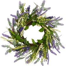 "Lavender Leaves Twig 14"" Wreath"