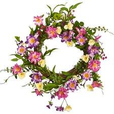 """Wild Flower Twig 22"""" Wreath"""