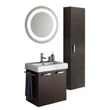 Cubical 24 Single Bathroom Vanity Set with Mirror by ACF Bathroom Vanities