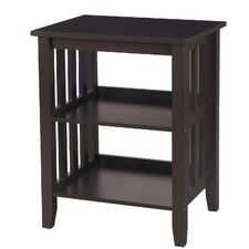 2 Shelf End Table by Adeco Trading