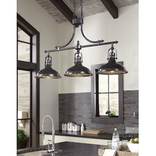 Strauss 3-Light Kitchen Island Pendant