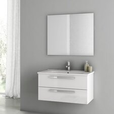 Dadila 32.7 Single Bathroom Vanity Set with Mirror by ACF Bathroom Vanities