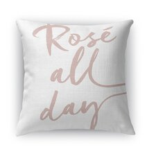 Rose All Day Burlap Indoor/Outdoor Throw Pillow by Kavka