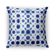 Shibori Circle Burlap Indoor/Outdoor Throw Pillow by Kavka