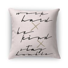 Work Hard Burlap Indoor/Outdoor Throw Pillow by Kavka